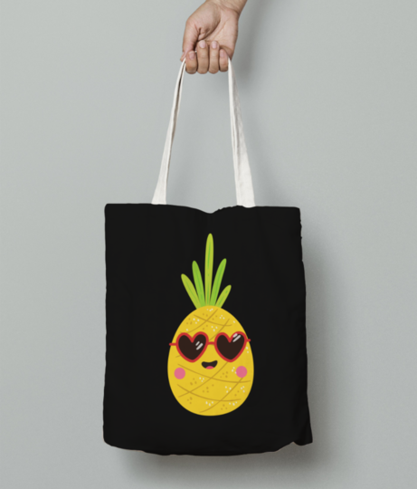 Pineapple tote bag front