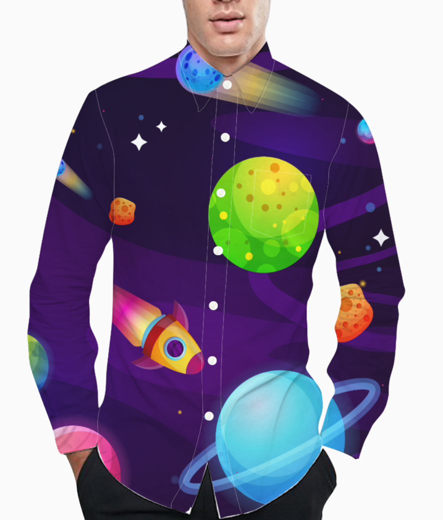 Space buddy basic shirt front