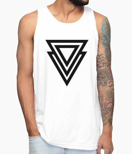 2 line triangle vest front