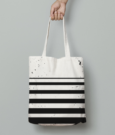 Circle sliced tote bag front