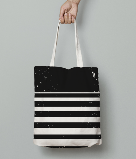 Sliced circle tote bag front
