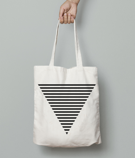 Triangle striped tote bag front