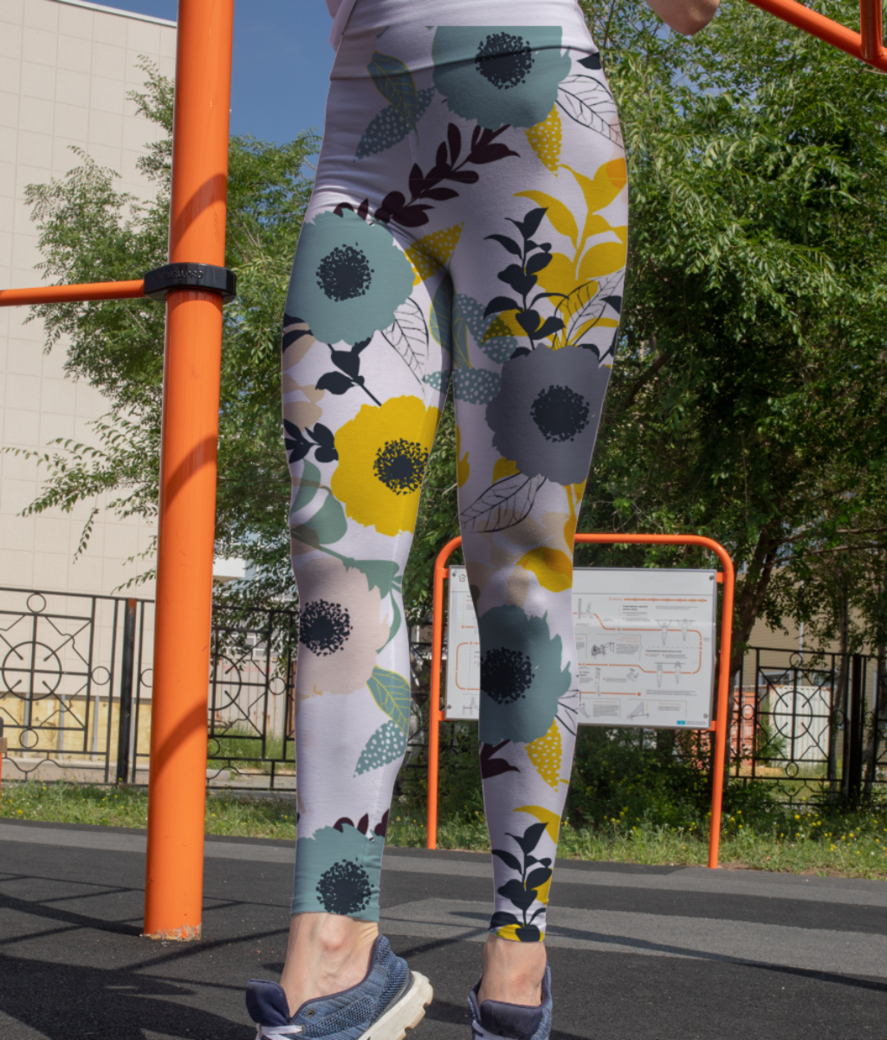 Floral pattern 44285 671 leggings front