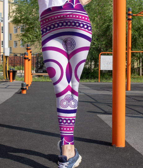 Owl zentangle leggings front