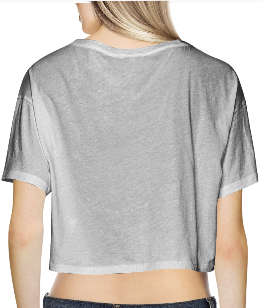 18 crop top back