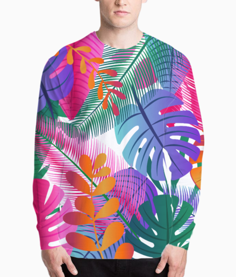 Tropical background henley front