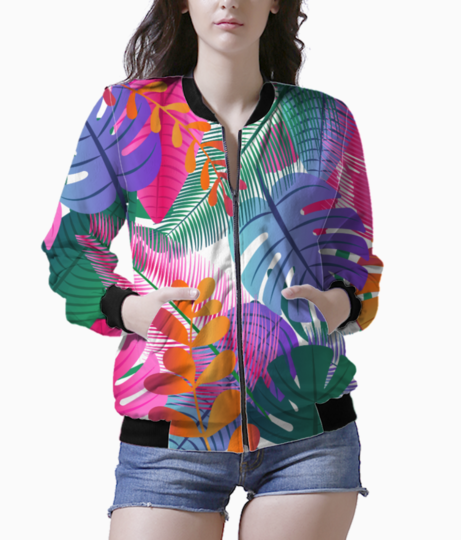 Tropical background bomber front