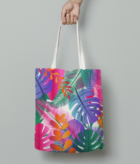 Tropical background tote bag front