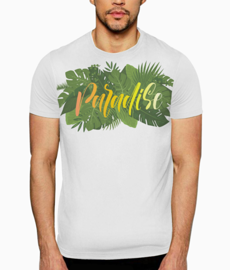 Paradise leaves t shirt front