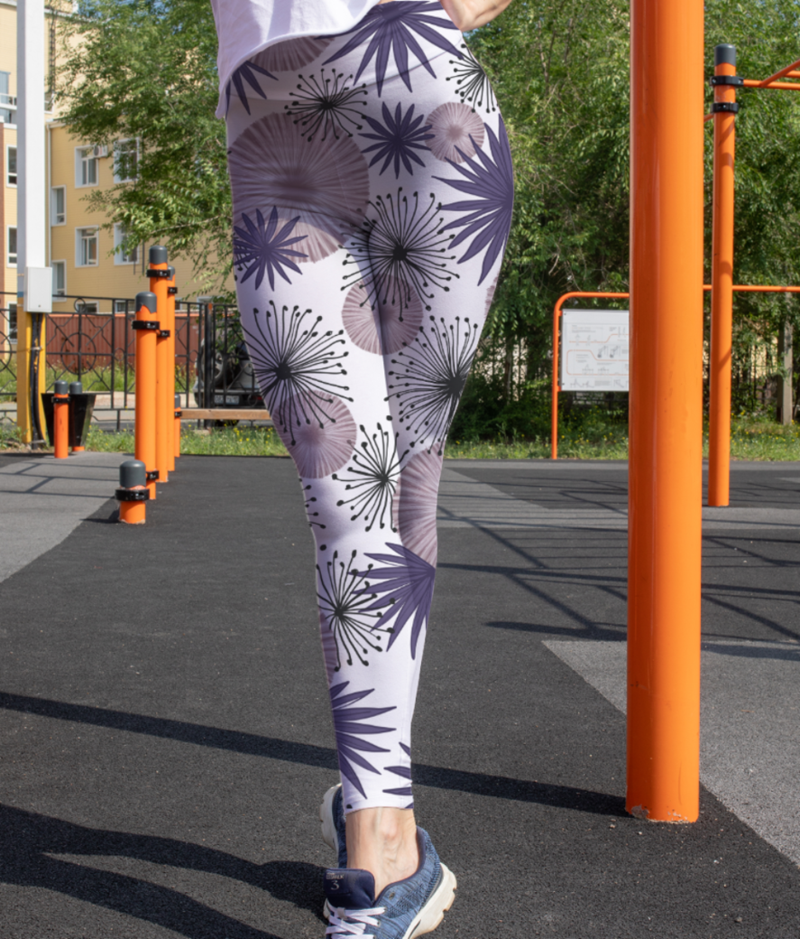 Floral round leggings front