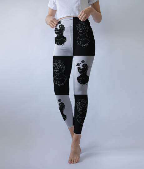 Humanface checkerbox leggings front