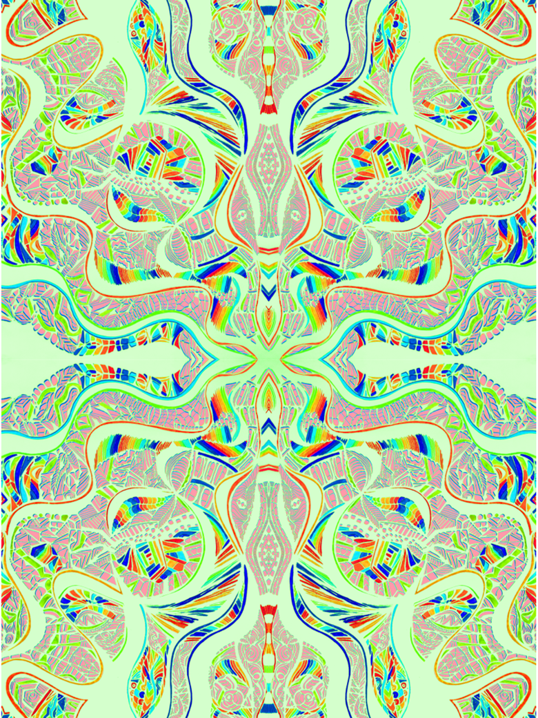 Abstract green pastel