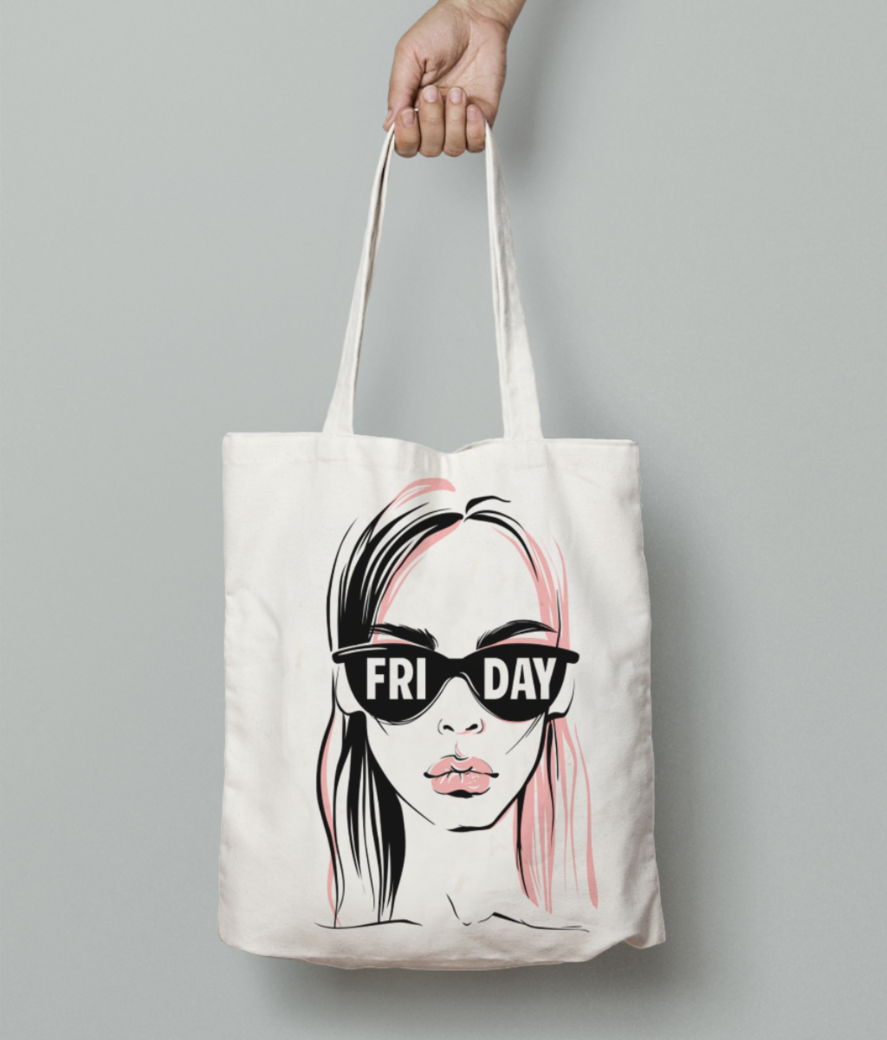 Fashion illustration vector girl 90395 4 tote bag front