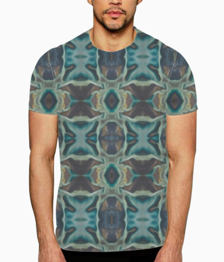 Abstract aqua t shirt front