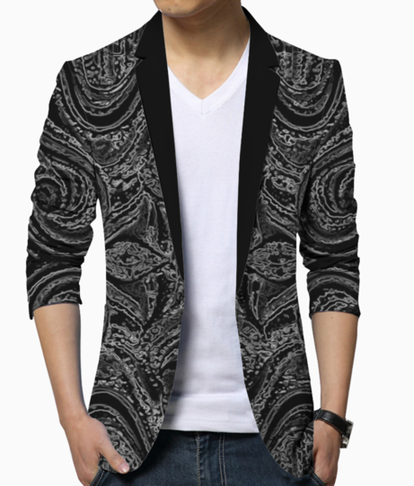 Abstract grey blazer front