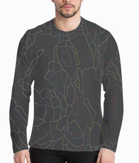 Abstract lines henley front