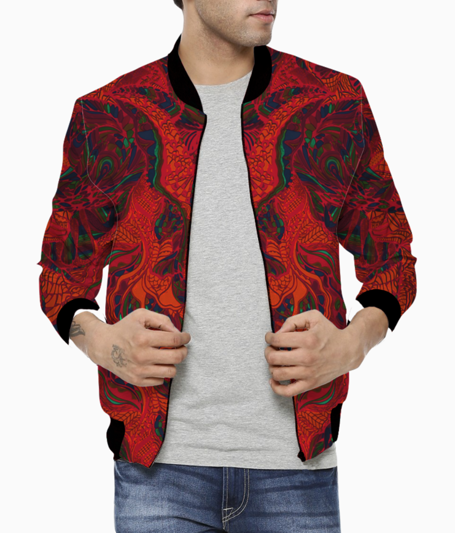 Abstract firered bomber front