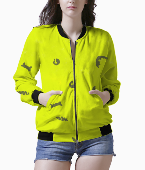 Green bomber front