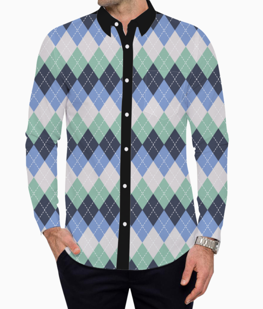 Argyle seamless pattern background 27991 359 basic shirt front