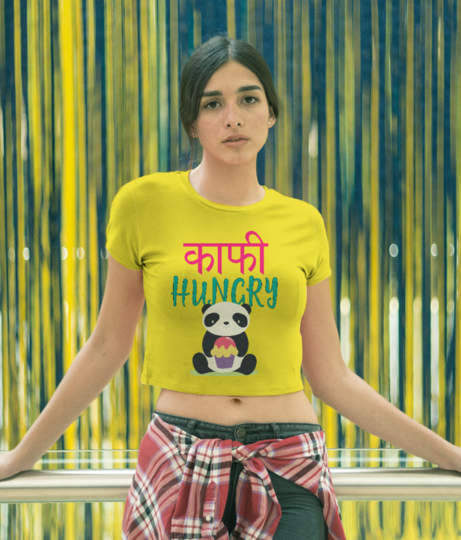 Kaafi hungry 2 crop top front