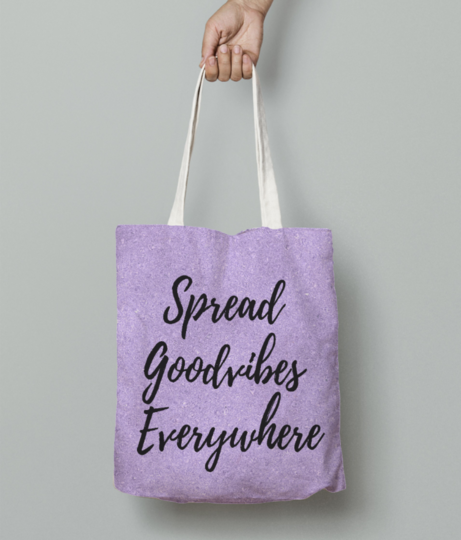 Spread goodvibes everywhere tote bag front