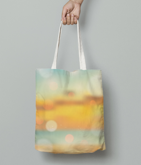 Sunset shades tote bag front