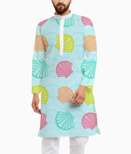 Sea shells kurta front