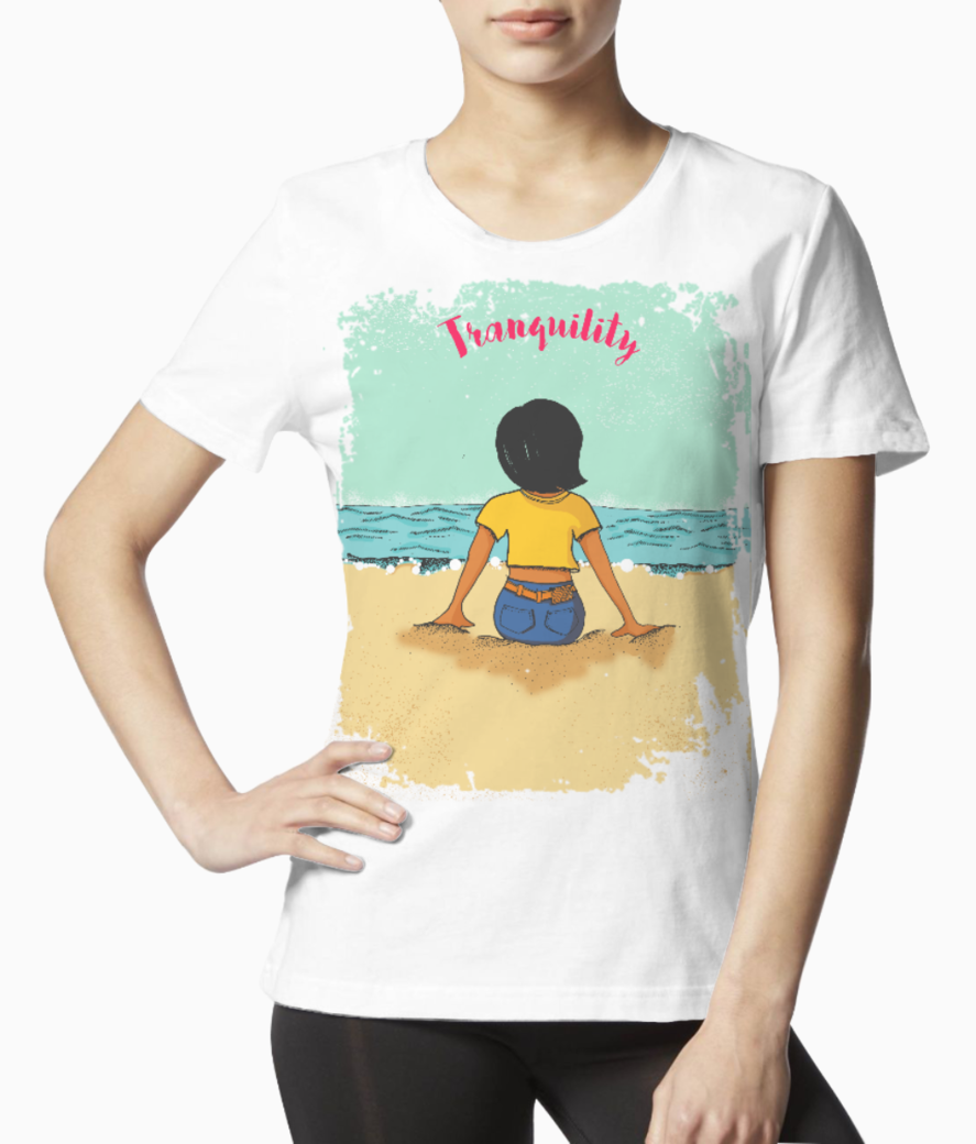 Zooey tranquil 3 tee front