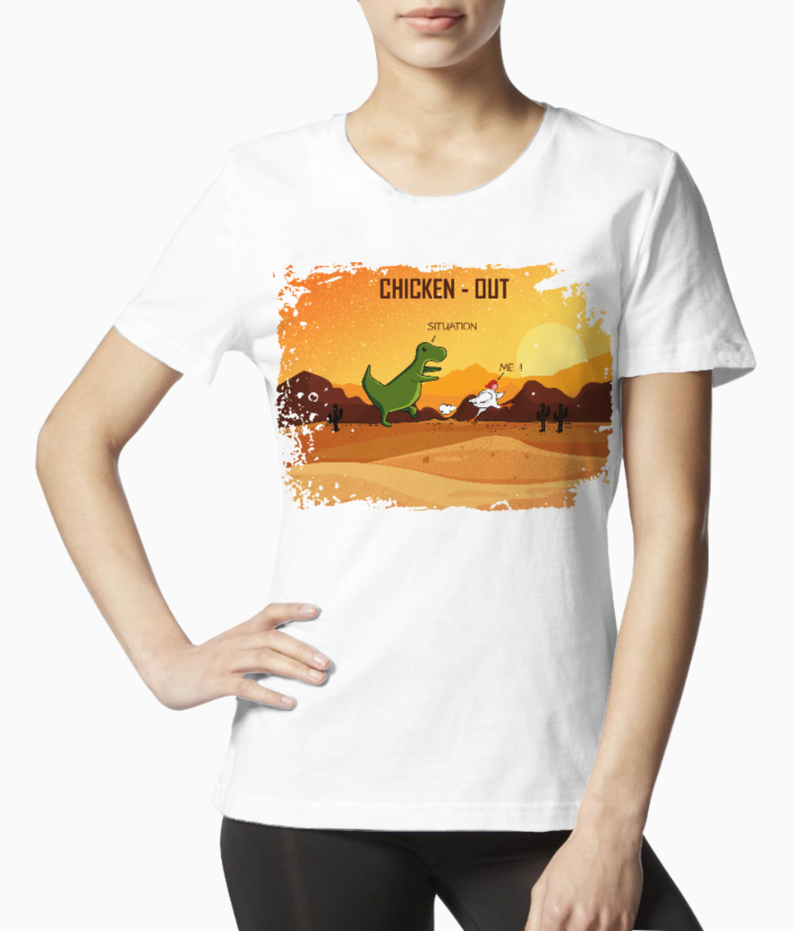 Chicken out 10 tee front