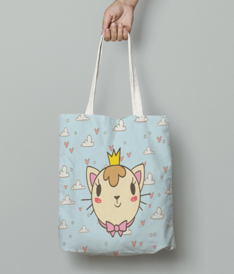 In the clouds tote bag front