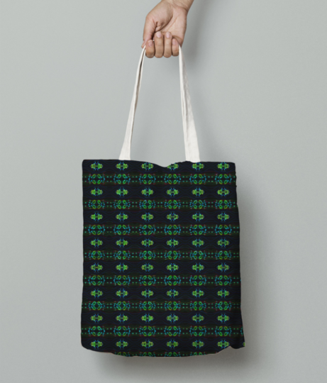 Mean green tote bag front