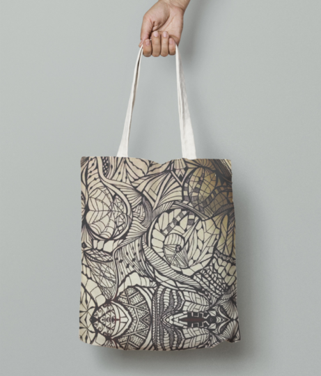 Mystical lines tote bag front