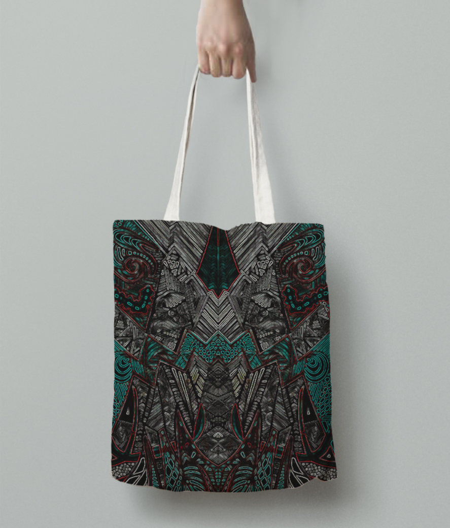 Dragon evo tote bag back