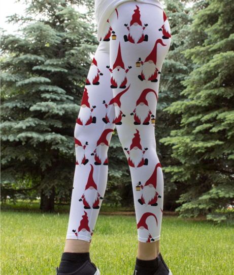 Chritmas seamless pattern with gnomes 72287 227 leggings front