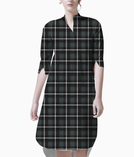 Shadow scottish tartan kurti front