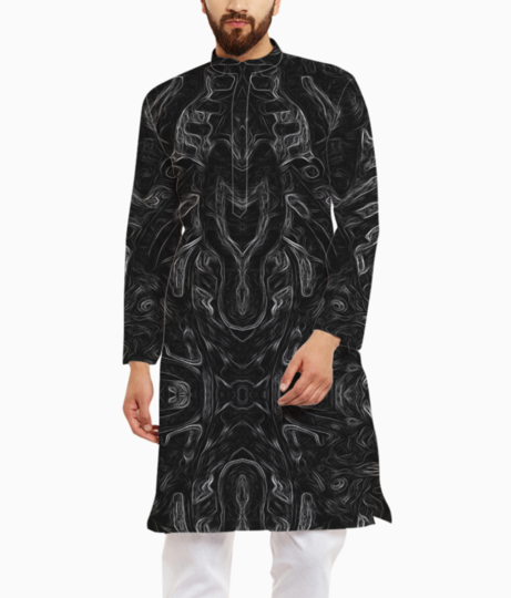 Abstract atribal kurta front