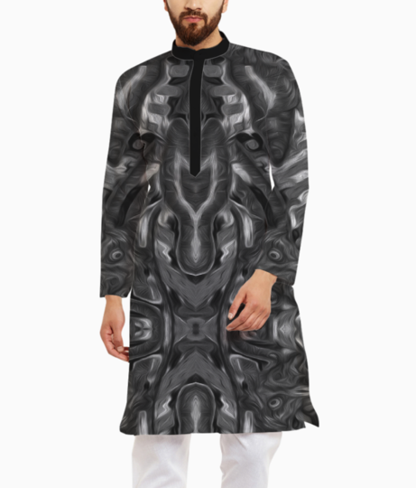 Abstract atribal a kurta front