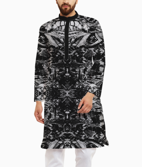 Abstract punch kurta front