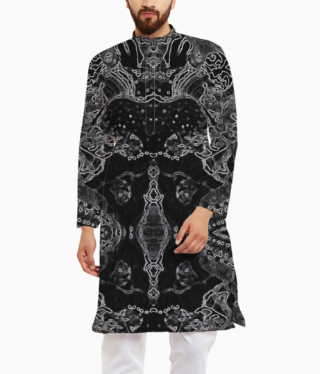 Abstract spider kurta front