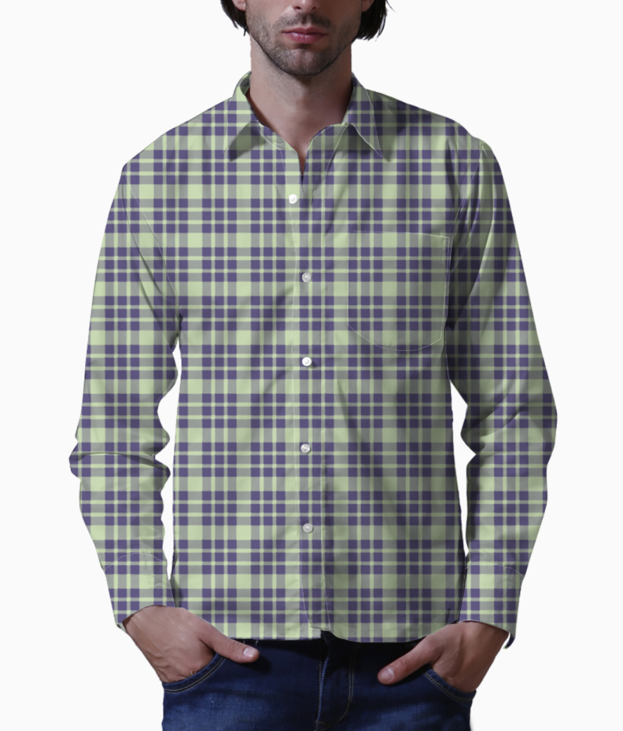 Seamless check pattern 8796 172 basic shirt front