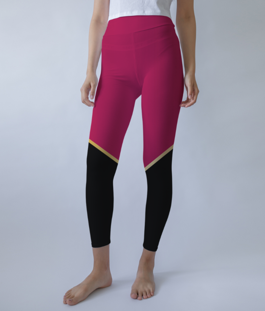 Ruby modern abstract leggings front