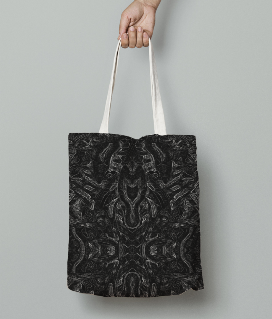 Abstract atribal tote bag front