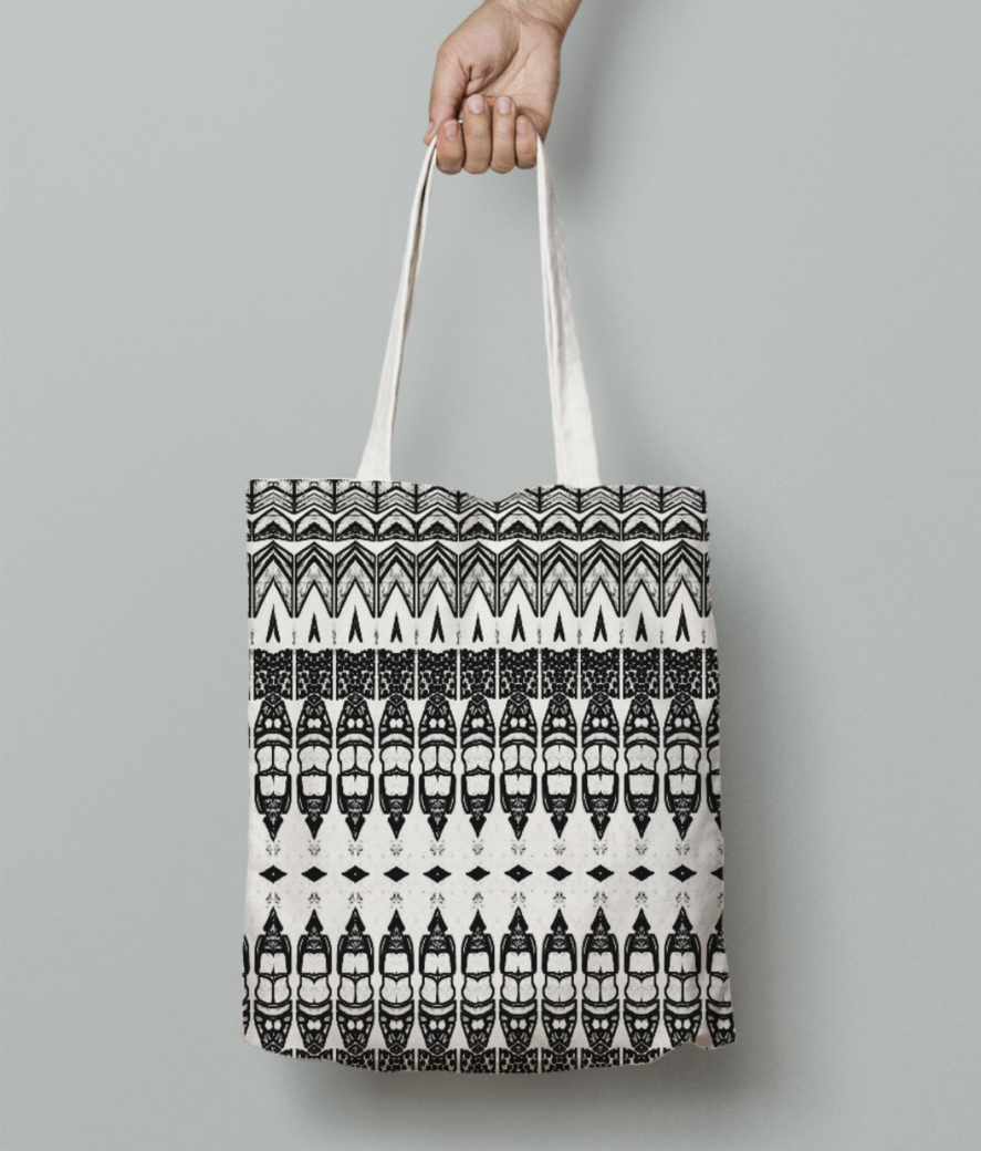 Abstract bullet ii tote bag front