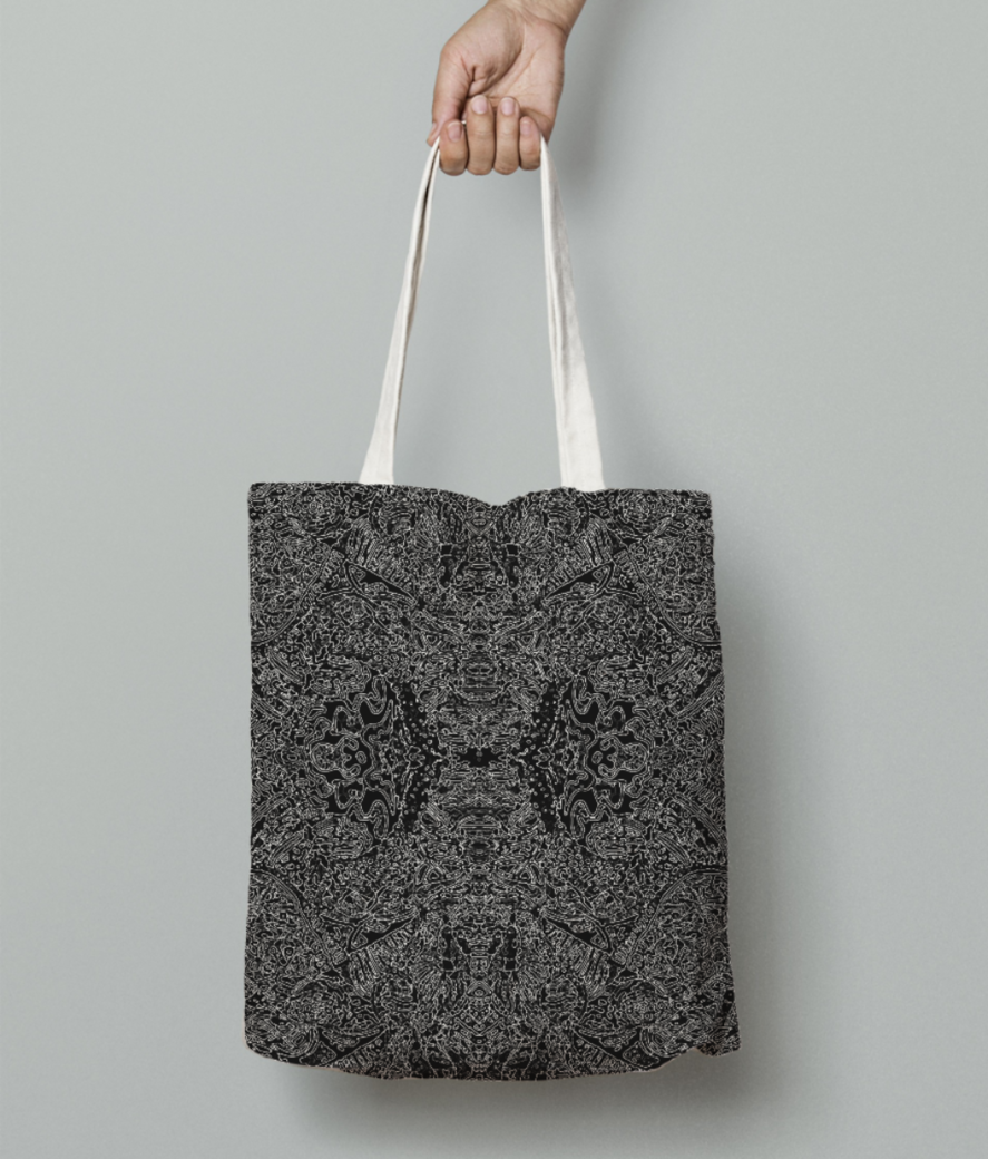 Abstract doodle %282%29 tote bag front
