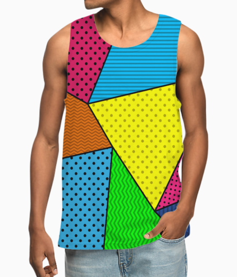 Abstract pattern vest front