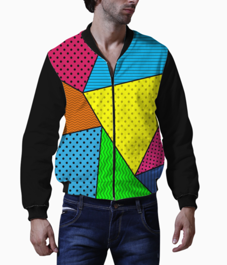 Abstract pattern bomber front