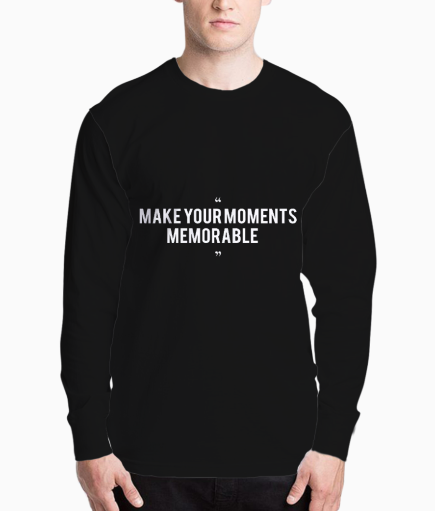 Make your moments memorable  white henley front