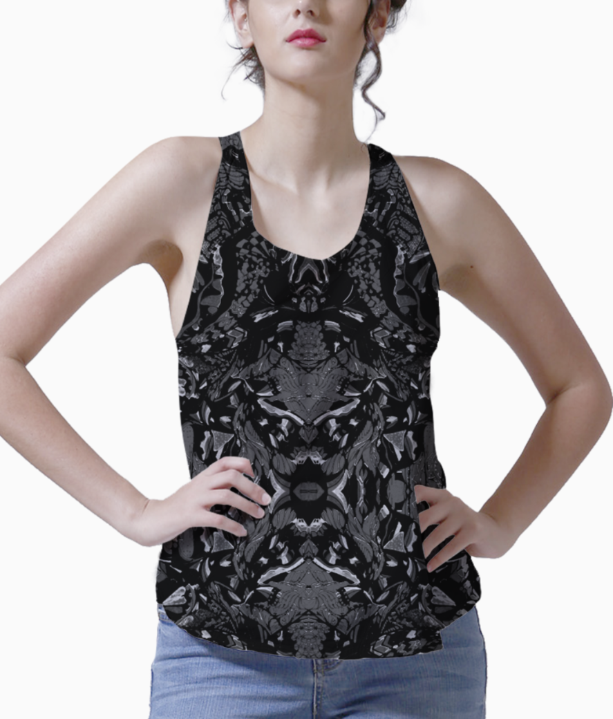 Abstract blue tank front