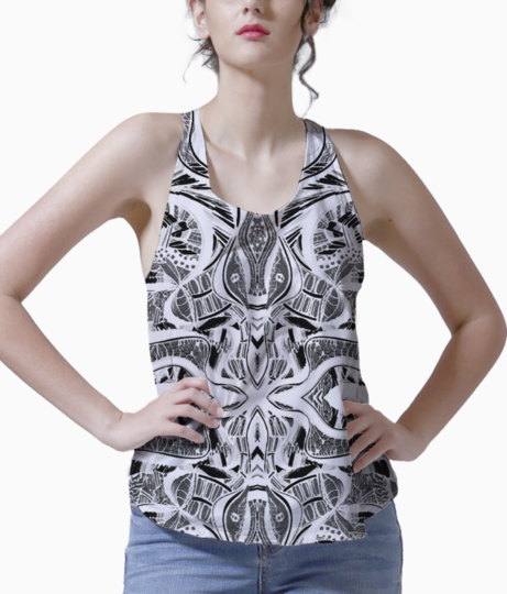 Abstract green pastel tank front