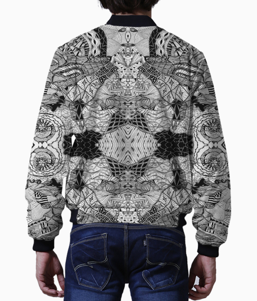 Abstract lines bomber back